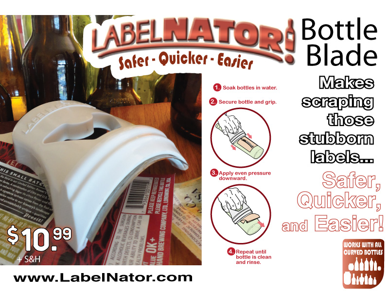Bottle Label Scraper Label Remover Tool